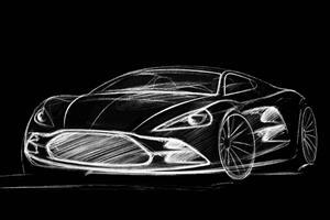 Teaser: HBH Sketch Out Aston Martin V12 Vantage Project