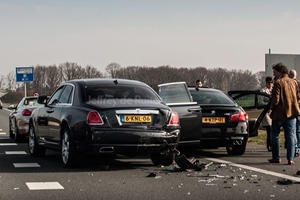M5, S5 and Rolls Royce Ghost Collide in the Netherlands