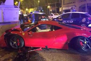 Ferrari 458 Meets a Dumpster in Madrid