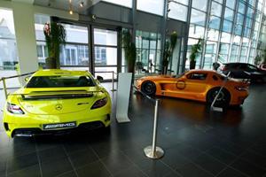 SLS AMG Black Series Shines in Neon Yellow