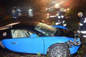 Bugatti Veyron Tumbles 40 Feet After Driver Loses Control