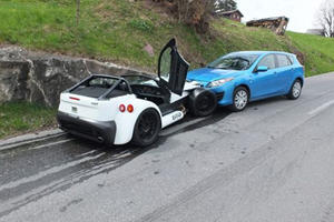 Day-Old Donkervoort D8 GTO Crashes in Switzerland