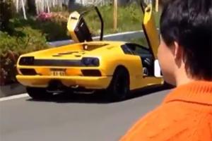 Watch: Lamborghini Diablo Crash Caught Live in Tokyo