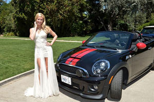2014 Playmate of the Year Receives Mini John Cooper Works Roadster