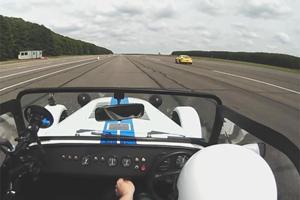 Place Your Bets: Porsche Cayman Drag Races Caterham Seven