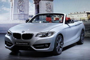 BMW 2 Series Cabrio Goes Topless in Paris