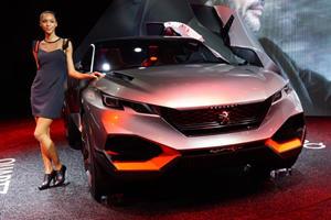 Peugeot Quartz Concept is a Stony Faced 500-HP Hybrid SUV