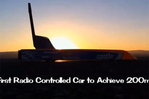 R/C Car Hits 200 MPH: Breaks World Record, Blows Our Mind