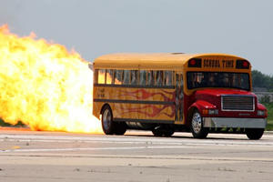 Meet The Jet-Powered 367-MPH School Bus