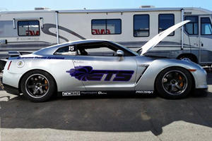 Nissan GT-R Hits Half-Mile 220 MPH, Spins Out in the Desert Like a Boss
