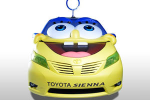 Toyota Unveils One-Off Sienna-Based Bubble-Blowing SpongeBob Concept in LA