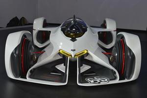 Chevrolet Chaparral 2X Vision Gran Turismo Concept is a Comically Futuristic Race Car