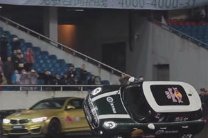 BMW M4 Claims Best Record Ever: Most Donuts Around a Car Driving on Two Wheels