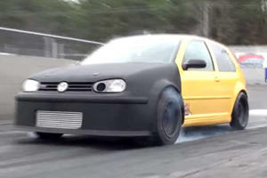 This 850-Horsepower Volkswagen Golf GTI Puts All Its Power to the Front Wheels