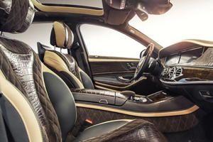 Mercedes S-Class by Prior Design Features Plenty of Carbon Fiber and Crocodile Leather