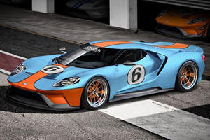 Check Out New Ford GT In Gulf Livery, Listen To Twin-Turbo V6 Firing Up