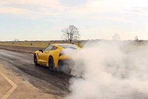 Watch The Hennessey HPE700 Supercharged Corvette Devour The Drag Strip