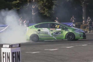 This Rear-Wheel-Drive Drift Prius Will Take You By Surprise, Even Though You Know It's Coming