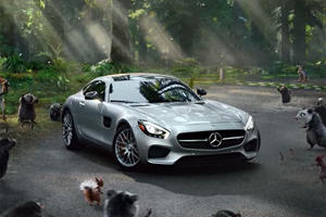 Mercedes-AMG GT And Animals Appear Together For Super Bowl Commercial
