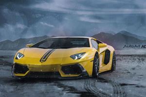 Snowplow Supercar: Meet The Lamborghini Aventador Snow Plow Edition
