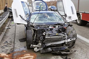 BMW i8 Completely Destroyed In Epic Autobahn Wreck