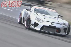 This Drift Lexus LFA With A V8 Is Absolutely Bat Sh-t Crazy