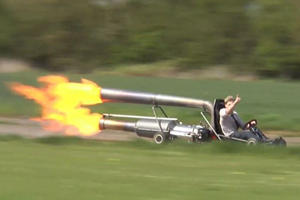 Just How Safe Would You Feel Piloting A Jet-Powered Go-Kart?