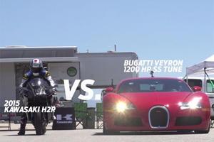 Bugatti Veyron Vs. Hyperbike Crotch Rocket: Who Wins This Half-Mile Drag Race?