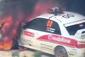 WRC Safety Car Proves How Extreme The Sport Really Is By Catching Fire