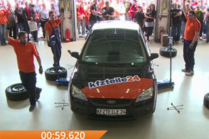 This Is How Fast You Can Change Wheels On A Car By Hand