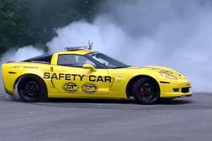 How To Do Killer Donuts In A Corvette Z06 Safety Car