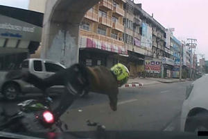 Here's Proof That Riding Two Wheels In Bangkok Can Be Hazardous To Your Health