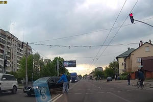 Here's What Happens When You Try To Run Over Russia's Most Badass Pedestrian