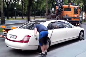 FAIL: Illegally Parked Maybach Has The Last Laugh