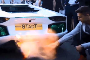 Watch This Idiot Light A Cigarette On A Lamborghini Exhaust Flame