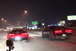 Challenger Hellcat And Corvette Z06 Fight For Street Supremacy: One Gets Absolutely Crushed