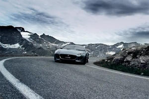 Video: 2011 Jaguar C-X16 Concept Cruising Through the Mountains