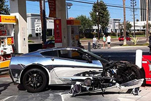 Rich Kid Obliterates Chrome Corvette Stingray: Gearheads Worldwide Weep
