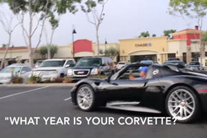 How The Hell Did This Woman Mistake A Porsche 918 Spyder For A Corvette?