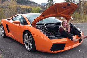 How Many Blondes Can Fit In A Lamborghini Gallardo Trunk?