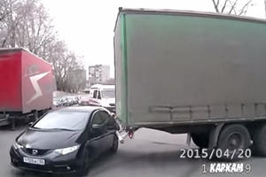 Try Not To Cringe As This Helpless Car Is Accidentally Towed Away