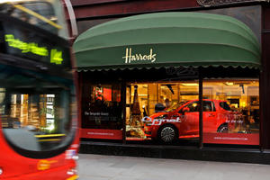 Aston Martin Cygnet Launched from Inside Harrods in UK