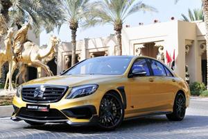 Brabus Brings Insane 900-HP Gold Mercedes To Dubai