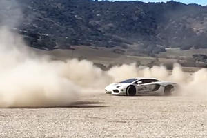 How To Do INSANE Off-Road Donuts In A $400K Lamborghini