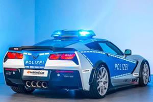 Germany's Newest 'Cop Car' Isn't A Porsche 911 But...A Corvette?!