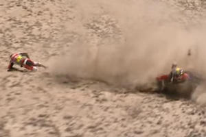 Dakar Rally Racer Casually Shrugs Off Epic Crash, Promptly Continues Being A Badass