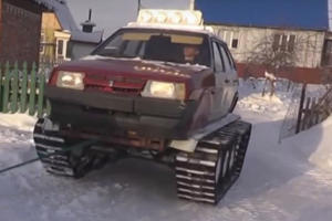 Russian Winters Are So Bad, This Guy Turned His Lada Into A Tank!