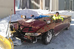 Canadian Redneck Turns Pitiful Pontiac Grand Prix Into Nightmarish Snow Plow