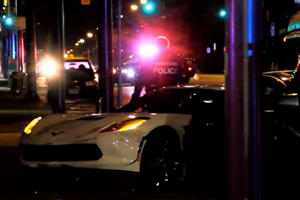 Of Course It Took Donuts For The Police To Arrest This Idiot Corvette Driver