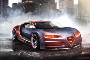Take That Batman! Superman Drives A Bugatti Chiron